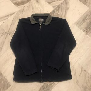 Free Tech navy fleece zip-up jacket. Medium.